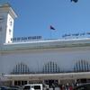 モロッコ1人旅行記 カサブランカ モロッコ鉄道ONCFカサボヤージュ駅 下見を兼ねて散策がてら歩いてみました