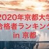 【速報】2020年京都大学合格者ランキング in 京都