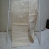 【名古屋帯】オフホワイトの大きな花の絽の名古屋帯(絽)