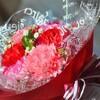 次男一家からの「母の日」の花束