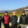 久しぶりのゴルフ(晴天で昨日の雪の残る中で)楽しく、暖かく、