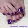 ハンド&フット同日施術にて♡秋を感じる鮮やか紫のワンカラーネイル☆フットジェル