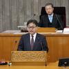 9日、吉田英策県議が代表質問。第二原発廃炉の決断、廃炉費用の国民負担反対で国へ強い働きかけを求めました。