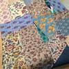 タッサーシルクのパッチワーク半巾帯