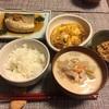鯖の煮付け  カツの卵とじ 粕汁