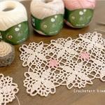 編み図あり|花モチーフのバレッタピンの作り方が「ナースときどき女子」手作り小物特集に掲載されました♪