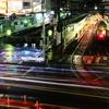 長時間露光による光線表現 都電荒川線・王子駅前停留場