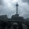 何故か雷雨な京都