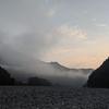 仁淀川、パックラフトの旅 その5 二日目のキャンプの朝