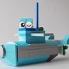 レゴ:潜水艦の作り方 LEGOクラシック10698だけで作ったよ (オリジナル説明書)簡単レシピ・ひらがな付
