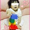 ☆ 生後356日 おもちゃのおおきなブロックを分解する