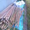 明日の稲刈りの準備をしました。雨は強くなってますが…