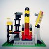 レゴ:ロケットの作り方 LEGOクラシック10696だけで作ったよ(発射台付、宇宙船)