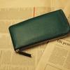グリーンの長財布(手作り国産牛革製)で開運しよう!