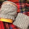 縄編みカップスリーブ