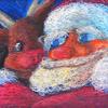 チョークアート「サンタとルドルフ」