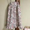 フリーハンドでサマードレスを縫いました