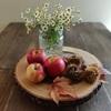 秋のテーブルと幼稚園ボランティア