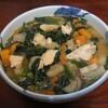 根菜と法蓮草の味噌汁