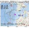 2017年08月15日 08時33分 青森県西方沖でM3.0の地震