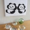 パンダのファブリックパネルの作り方)パンダ手ぬぐいを切らずに作れるアートなパンダグッズ