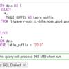 BigQuery で _TABLE_SUFFIX をビューやWITH句の外側から指定する