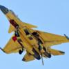 空母と爆撃機を見せつける得意の威嚇性演習