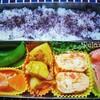 ★秋鮭&ポテト&ベーコンカレー炒めおべんとう★