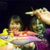 鹿児島の海に、颯爽と参上⁉️上園姉妹⁉️