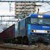 8月19日撮影 高崎線 583系を待っている間に撮影した貨物列車
