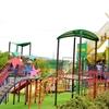 【2歳おでかけ】萩谷総合公園行ってきた。巨大遊具に大人もテンション↑↑お昼はうどん処『水車』でいただきました。
