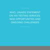 『HIV検査サービスに関する WHO・UNAIDS声明: 新たな機会と 継続的な課題』