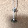 歯車とガラス管のネックレス