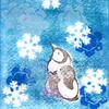 シールステンシル+消しゴムハンコ「雪の結晶1」
