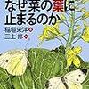 蝶々はなぜ菜の葉に止まるのか