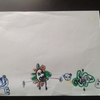 娘(年中 4才)が、最近、お絵描きにハマっている。