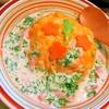 春菊とベーコンの豆乳オムライス
