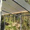 波板ポリカの屋根を補強するpart1