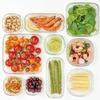 そのまま食材をレンジで使える!iwaki パック&レンジ システムセット グリーン PS-PRN-G7