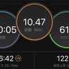 ジョギング10.47km・今日は低強度ジョグとWSの組み合わせの巻