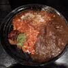 【ゴヤクラ】ゴヤクラ和レーワールドを長堀橋で味わう!トマトベースの個性的な和レー2種とWソースで楽しむ牛豚ラムバーグ!