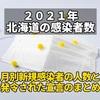 記録用【2021年 北海道新型コロナウイルス感染者数】月別新規感染者の人数と発令された宣言のまとめ