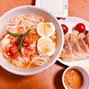 〔1人暮らし料理〕 韓国温麺と餃子