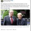 without -ing, 関係代名詞, など(訃報: 北アイルランド和平の筋道をつけた政治家の妻、パット・ヒュームさん)