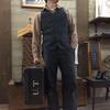 クッシュマン/CUSMAN ブラックシャンブレーワークベストでアーリーアメリカンスタイルを楽しむ♬