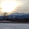 夕空と御嶽山(御岳山)・2021年2月12日