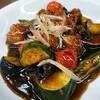 夏野菜の黒酢豚