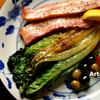 野菜をステーキにして食す