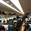 修学旅行19 東海道新幹線、名古屋付近を通過中
