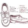 靴の絵と「ペンで描く スケッチから精密描写まで」
